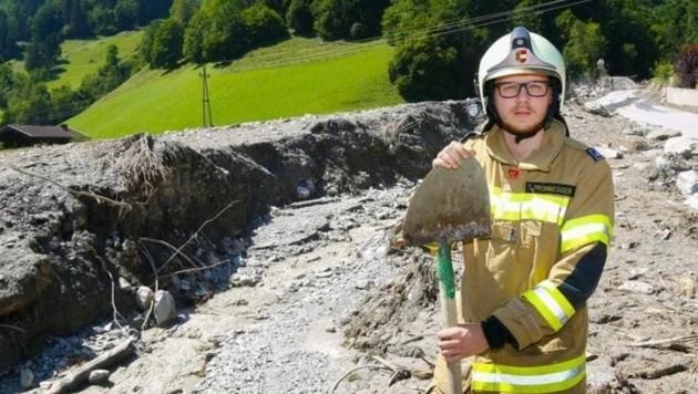 Feuerwehrmann Tobias Prommegger kam am Wochenende kaum zum Schlafen