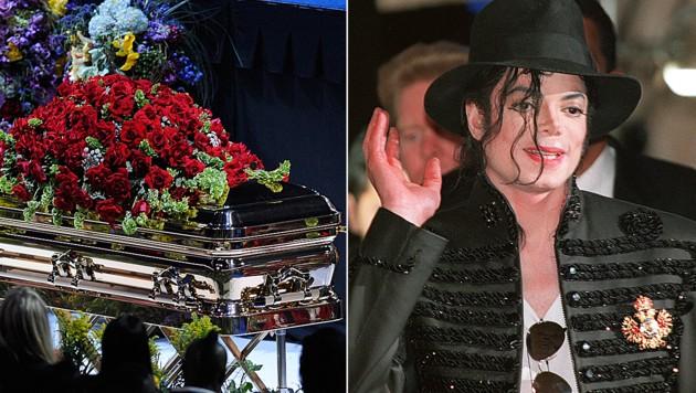 Michael Jacksons Sarg soll beim Begräbnis im Jahr 2009 leer gewesen sein.