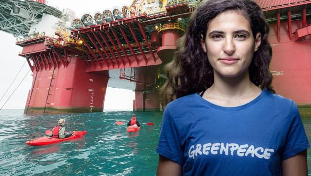 Dalia K. und eine Ko-Aktivistin wurden auf der Arctic Sunrise vorübergehend festgenommen.
