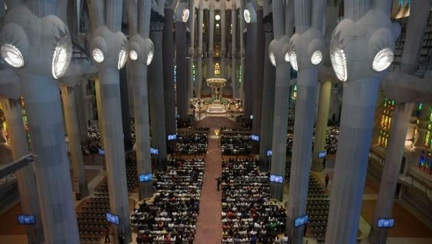 In der Sagrada Familia fand eine Trauermesse für die Opfer des Terrors in Spanien statt. (Bild: AFP or licensors)