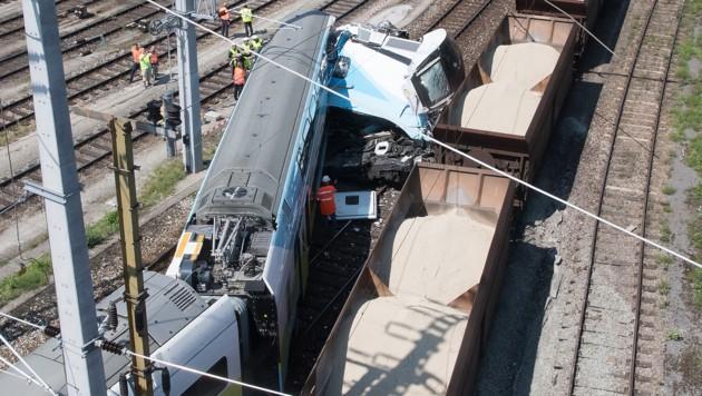 Die Unfallstelle am Linzer Verschiebebahnhof