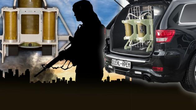 (Bild: Diehl Defence, stock.adobe.com, krone.at-Grafik)