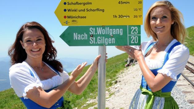 """Die Wolfgangsee-Botschafterinnen Sigrid und Marina laden mit der """"Krone"""" zum Herbstfest."""