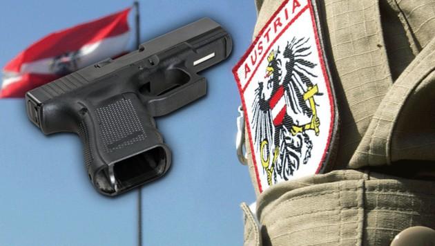 Aus einer Glock-19-Dienstwaffe wie dieser löste sich ein Schuss, der den US-Soldaten traf.