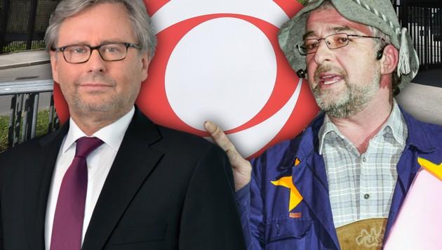 (Bild: ORF, APA, krone.at-Grafik)