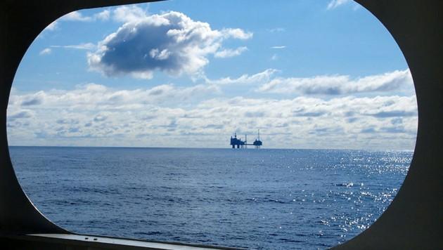 Eine Ölförderplattform in der Nordsee (Bild: GEOMAR/Lisa Vielstädt)