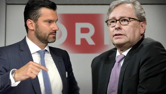 ORF-Stiftungsrat Thomas Zach, ORF-Generaldirektor Alexander Wrabetz