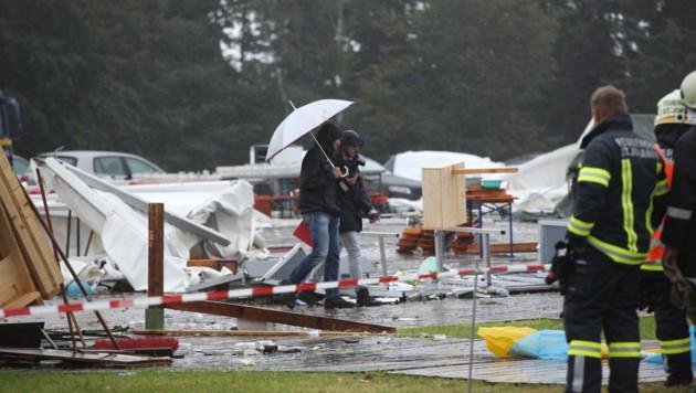 Nach der Zeltfest-Katastrophe werden nun Spenden gesammelt. (Bild: Pressefoto Scharinger © Daniel Scharinger)