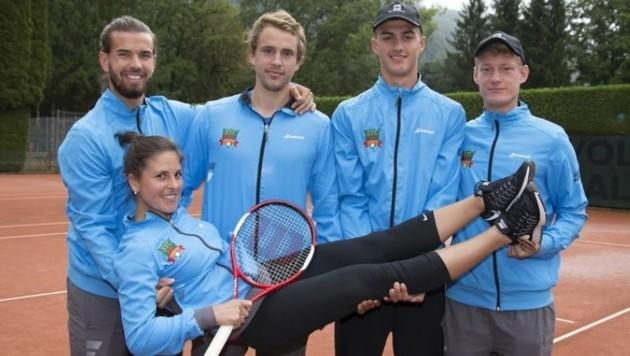 Coach Kiszczynska â013 Kirschner, Pongratz, Erler, Kössler (v.l.) (Bild: Andreas Tröster)