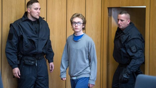 Marcel H. erschien in einem grauen Pullover und einer weiten Hose vor Gericht. (Bild: AFP)