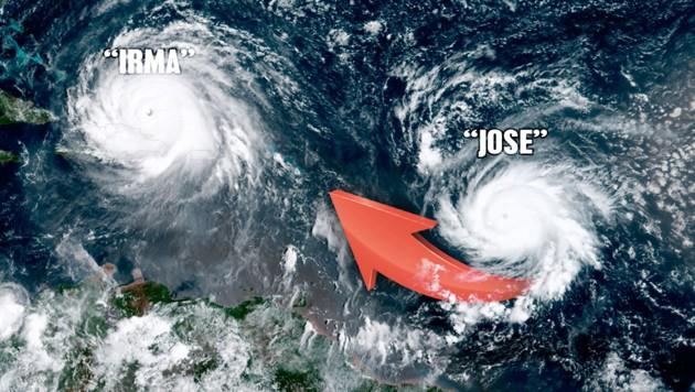 (Bild: NOAA, krone.at-Grafik)