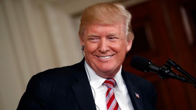 US-Präsident Trump freut sich über den Nachwuchs. (Bild: AP)