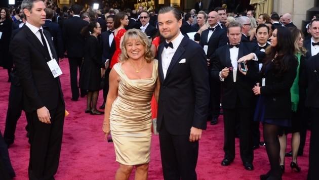 Leonardo DiCaprio mit seiner Mama Irmelin (Bild: AFP)