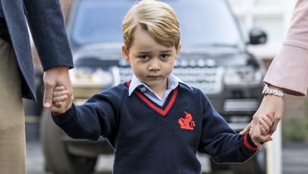 Prinz George an seinem ersten Schultag (Bild: AFP)
