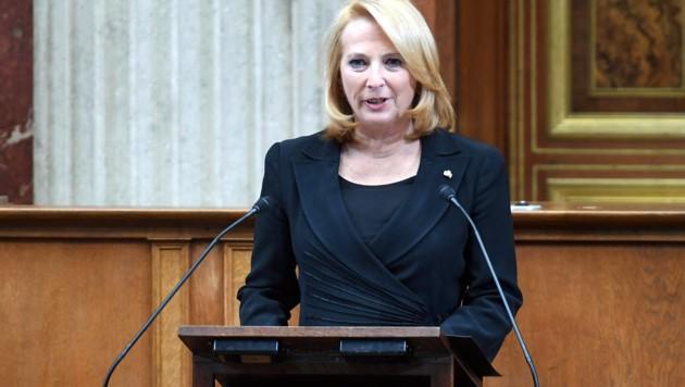 Die Zweite Nationalratspräsidentin Doris Bures