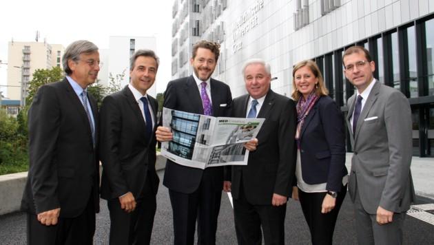 Vom Minister bis zum Rektor: die Freude über den neuen Campus ist groß. (Bild: Christian Jauschowetz)
