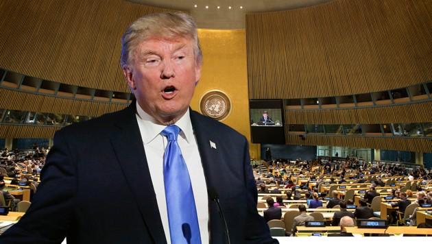 Mit Spannung wird Trumps erste Rede vor der Weltgemeinschaft erwartet. (Bild: AP)