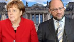 Angela Merkel (CDU) und Martin Schulz (SPD) verhandeln derzeit über eine Neuauflage der großen Koalition in Deutschland. (Bild: AFP, AP, stock.adobe.com, krone.at-Grafik)