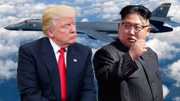 Das Kim-Regime betrachtet die jüngsten Drohungen Trumps als Kriegserklärung. (Bild: AP, krone.at-Grafik)