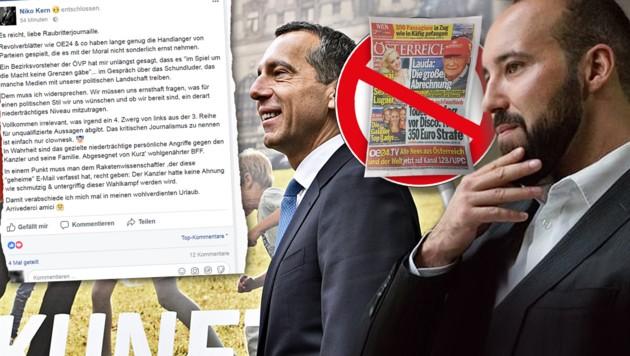 (Bild: APA/Hans Punz, facebook.com, krone.at-Grafik)
