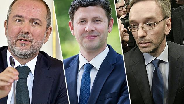 """Sie gelten als Spindoktoren der SPÖ, ÖVP und FPÖ: Thomas Drozda, Stefan Steiner und Herbert Kickl (Bild: APA/HERBERT NEUBAUER, """"Krone"""", APA/APA/HANS KLAUS TECHT)"""