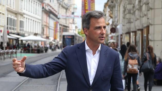 Grazer Bürgermeister Nagl will Innenstadtwirtschaft stärken und kritisiert Shoppingcity Seiersberg. (Bild: sepp pail)