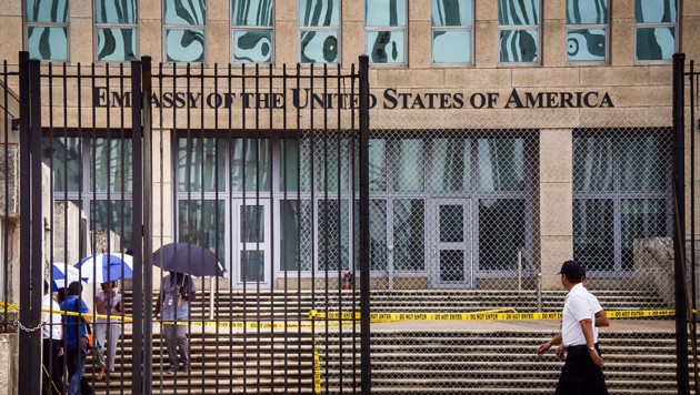 Die US-Botschaft in der kubanischen Hauptstadt Havanna (Bild: AFP)