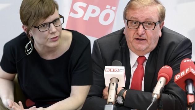 Andrea Brunner (38) und Christoph Matznetter (58) sollen die SPÖ nun aus der Krise führen. (Bild: APA/H.NEUBAUER,APA/H. FOHRINGER, krone.at-Grafik)