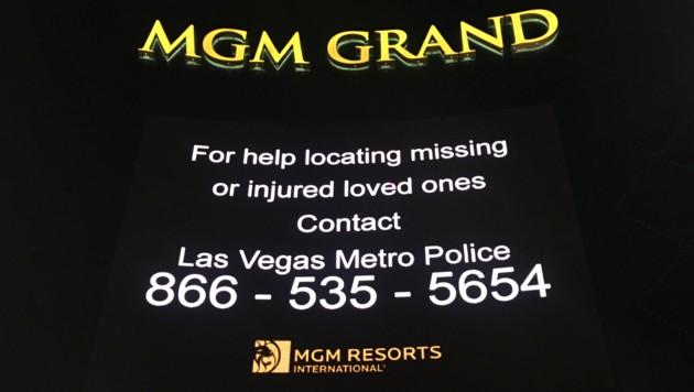 Leuchtende Werbeanzeigen wurden in ganz Las Vegas durch wichtige Botschaften ersetzt. (Bild: Charlotte Sequard-Base)