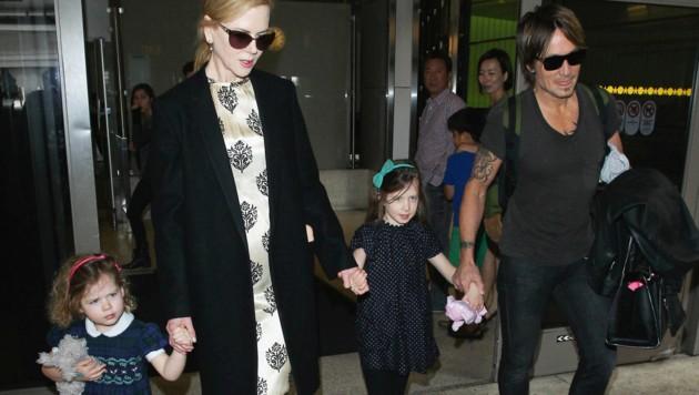 Kidman gebar Tochter Sunday Rose selbst, Schwester Faith wurde von einer Leimutter ausgetragen. (Bild: www.PPS.at)
