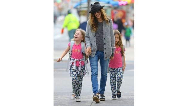 Sarah Jessica Parker mit ihren Zwillingen Tabitha und Marion (Bild: www.PPS.at)
