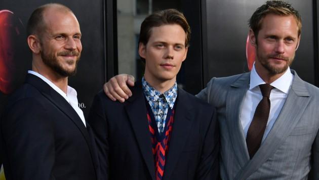 Die Brüder Gustaf, Bill und Alexander Skarsgard (von links) (Bild: 2017 Getty Images)