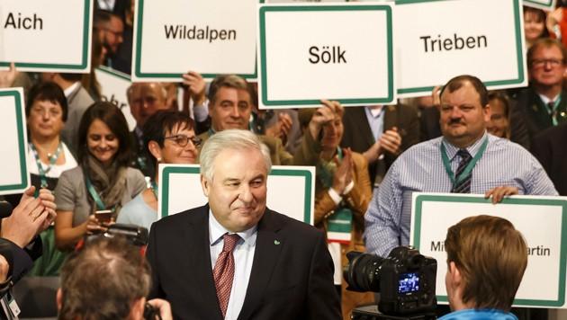"""Landeshauptmann Hermann Schützenhöfer: """"Mit Sebastian Kurz können und werden wir es packen."""" (Bild: APA/ERWIN SCHERIAU)"""