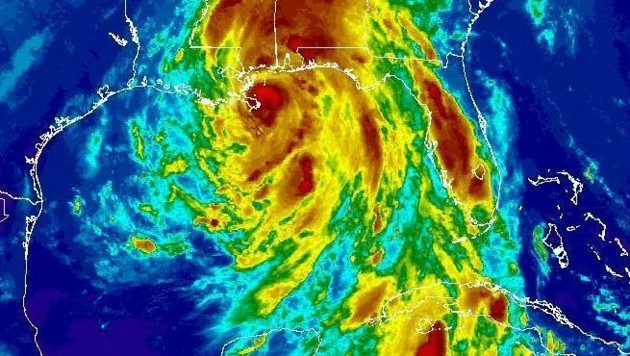 """Satellitenaufnahme des Hurrikans """"Nate"""" (Bild: NOAA)"""