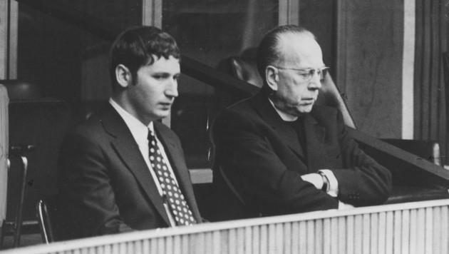 Ein Bild aus dem Archiv: Professor Johannes Huber mit Kardinal Franz König (Bild: Franz Votava)