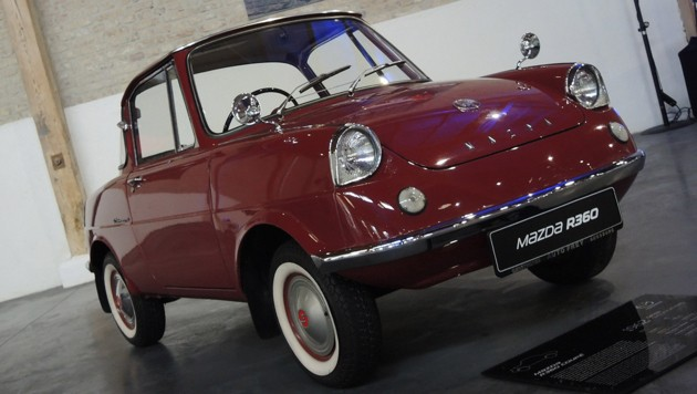 Mazda R360 Coupé, 1962, V2-Motor mit 356 cm³ und 16 PS (Bild: Stephan Schätzl)