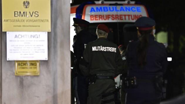 Der tödliche Zwischenfall ereignete sich im Gebäude des Bundesamts für Rüstung und Wehrtechnik. (Bild: APA/HANS PUNZ)