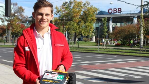 Der junge Lebensretter Florian Krondorfer aus Leonding. (Bild: unbekannt)