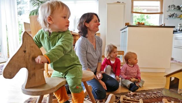 Noch sind die Kinder klein ... doch die Zeit verfliegt! (Bild: Christof Birbaumer (Symbolbild))