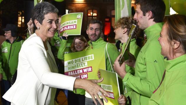 Grünen-Spitzenkandidatin Ulrike Lunacek muss um den Verbleib im Parlament zittern. (Bild: APA/HANS PUNZ)