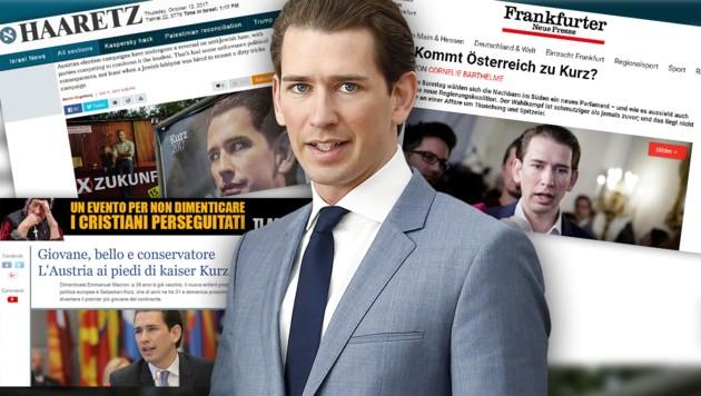 (Bild: APA/D.TATIC, haaretz.com, ilgiornale.it, fnp.de, krone.at-Grafik)