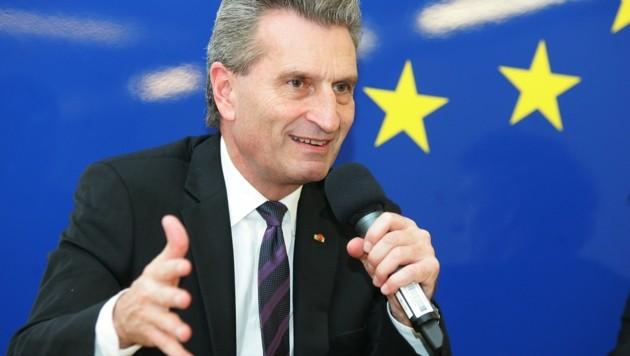 EU-Budgetkommissar Günther Oettinger (Bild: APA/Hautzinger)
