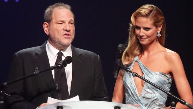 Heidi Klum und Harvey Weinstein (Bild: www.PPS.at)