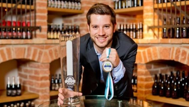 Stolzer Vize-Weltmeister unter den Bier-Spezialisten: Felix Schiffner, Braumeister bei Stiegl. (Bild: Picker PR/Cityguide)