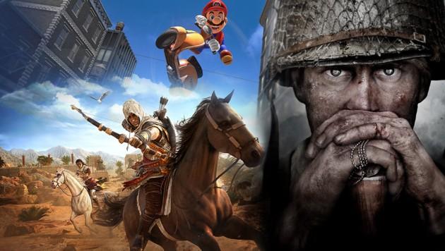 (Bild: Nintendo, Ubisoft, Activision, krone.at-Grafik)
