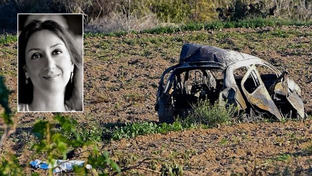 Der Anschlag auf die Bloggerin Daphne Caruana Galizia gilt als der spektakulärste Mordfall Maltas. (Bild: AP)