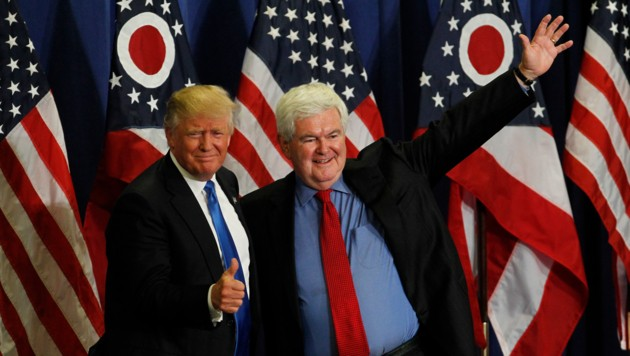 Donald Trump und Newt Gingrich (Bild: Getty Images/AFP)