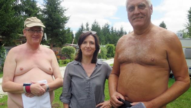 Horowitz nahm den FKK-Campingplatz Rutar Lido in Kärnten â013 angezogen â013 unter die Lupe. (Bild: ORF)