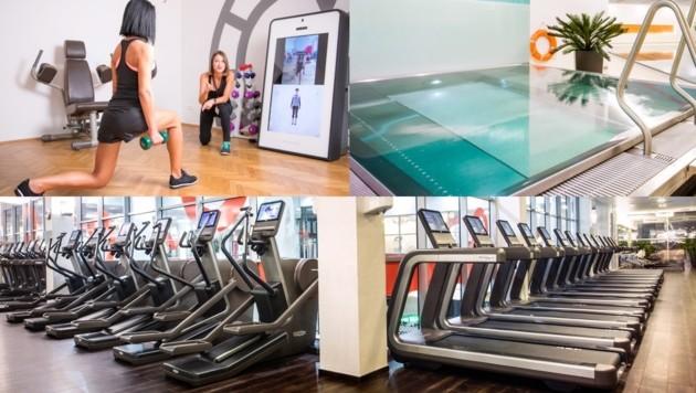Betreuung, Entspannung, Trainingsgeräte und Kurse - die Kundenwünsche fordern die Fitnessketten. (Bild: John Harris (2), Mrs.Sporty)