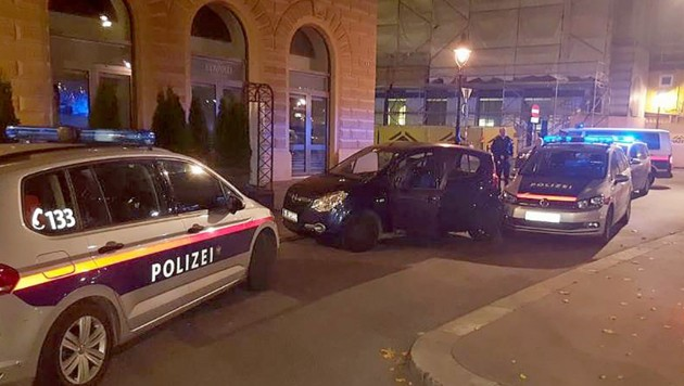 Das Auto des betrunkenen Lenkers konnte schließlich von der Polizei gestoppt werden. (Bild: APA/POLIZEI)